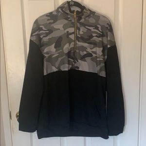 Black and Camo Hoodie